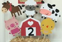 Farm Birthday Party Ideas / Fun ideas for a creative Baryard Farm birthday party. Check these great food, cake, cupcake, cookie, decoration, and invitation ideas to make your celebration a success.