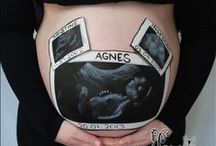 Belly Painting / Belly paintings done on pregnant bellies. Some are done by me, some are done by others :)