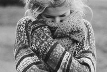 sweater weather / cozy cold weather fashion. Sweaters, Scarves,  & accessories