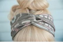 DIY headbands and hairwraps / headwraps, headbands, yoga hair, DIY and inspiration