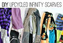 DIY infinity scarf / sew your own infinity scarf