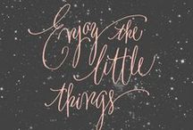 Hand Lettering & Calligraphy Artwork / Beautiful artwork of handwritten or illustrated calligraphy to spark joy and inspiration.