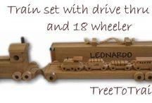 Wooden Toy Train sets / Custom wooden train sets