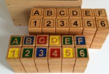 ABC Blocks / Custom wooden ABC/123 Blocks, hand carved and painted or wood burned.