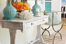 "Entry and Foyer Decor / The foyer of your home sets the tone for your entire house, it should be welcoming and warm plus functional. We like the spaces filled with the personalities of the people who live there, a true ""Welcome"" into any home. The Project Cottage features Coastal Inspired Designs for the Hip Cottage.  Visit our website at www.theprojectcottage.com/"