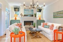 Oranges are hot! / Sometimes a splash of color is all a room needs to make it look fabulous. Here's some home decor inspiration that'll turn your head. The Project Cottage features Coastal Inspired Designs for the Hip Cottage. Home Décor, Cushions & Poufs, Prints & Frames, Home Accents, Wall Art, Coat Racks & much more. Visit our website at www.theprojectcottage.com/