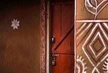 #Indian wall frescoes and door