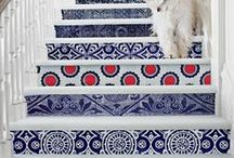 Pattern Decor Inspiration / Adding a splash of pattern to your design can make it pop! The Project Cottage features Coastal Inspired Designs for the Hip Cottage. Home Décor, Cushions & Poufs, Prints & Frames, Home Accents, Wall Art, Coat Racks & much more. Visit our website at www.theprojectcottage.com/