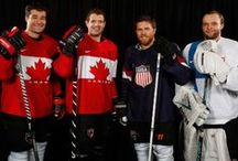 #SharksinSochi / Joe Pavelski (USA), Antti Niemi (Finland), Patrick Marleau and Marc-Edouard Vlasic (Canada) of the San Jose Sharks will compete for gold in Sochi. Good luck guys! / by San Jose Sharks