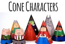 Cone Characters / Printable Cone Characters! Perfect addition to story telling in EYFS, KS1 and KS2.  / by twinkl Primary Teaching Resources