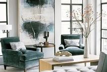 Project::  Melissa Lane / Modern Design Inspiration for a living room, breakfast nook and entry.  Traditional meets contemporary
