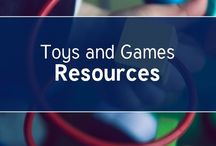 Toys and Games / Building Block themed worksheets, puzzles, crafts.