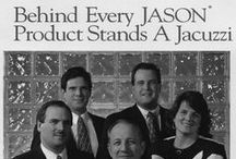 "Jacuzzi Family History / Jason International, Inc. was founded by Remo Jacuzzi and his immediate family.  The name Jason is a contraction of the words ""Jacuzzi"" and ""son"" to form ""Jason.""   This board follows milestones from that iconic Italian American family."