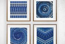 Indigo Blue / A collection of these beautiful moody Indigo blues on various mediums.