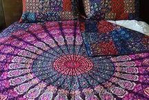 Mandala Tapestry Quilts / Mandala Quilts. Mandala Tapestries Poufs, Chic Dog Beds & Cushions Boho Home and Dorm Decor and Bohemian Clothing