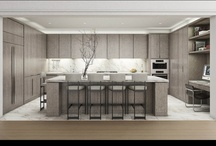 kitchens  / Kitchen design from minimal to maximum with a focus on white kitchens, but grey , black and natural or washed woo can creep in.