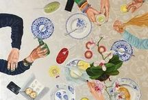 SASart.nl - Table Scenes & Table Pieces / Oilpaintings with the table as main theme I made from 2008 till 2015 www.sasart.nl