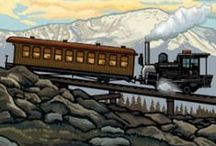 Vintage Travel & Transportation / Cool retro travel posters & images. / by Adobe Inn at Cascade
