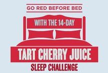 Go Red Before Bed / In need of a good night's sleep? Researchers have found that tart cherries, a natural source of melatonin, may help reduce insomnia and improve the quality and duration of sleep.