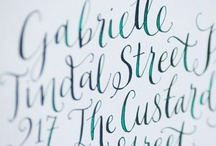 The Art of Calligraphy / The beauty of artwork written by hand is unparalleled--and the options are boundless. Here's what inspires us at Chandelier.