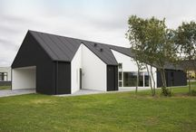 House exteriors Black and white