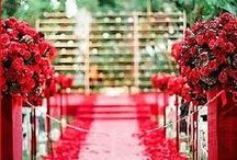 Red! / Romantic. Ravishing. Red. Floral Design and Event Design by Kimberly Sevilla Rose Red & Lavender. roseredandlavender.com