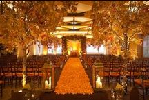 Orange! / Warm Glows for Fall and Winter Weddings Floral Design and Event Design by Kimberly Sevilla Rose Red & Lavender. roseredandlavender.com