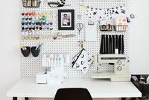 sewing room / Organization ideas for the sewing and crafting room.