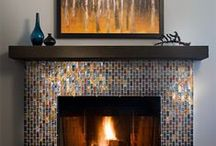 Fireplace Tile / Ever wonder what turns a fireplace into a hearth? / by Oceanside Glasstile