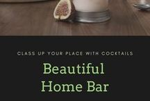 Beautiful Home Bar / Inspired glassware, bar accessories and bar design