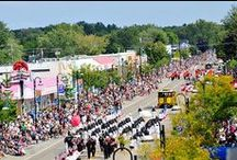 Wisconsin Dells Festivals / Lively music, old-fashioned festivals, classic cars, sporting events and even a Waterslide-athon fill the calendar through the entire year. Enjoy the Dells with the locals as fun-filled festivities change with the season.