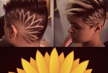 Hair tattoo / Tattoo design with hair cutting