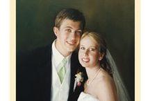 Brides / Bridal Oil Portraits hand painted by Leon Loard Oil Portraits