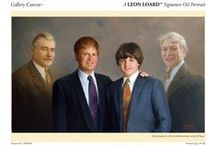 Father's Day / Fathers and Grandfathers with their beautiful families, hand painted by Leon Loard Oil Portraits