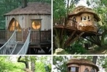 Cabins,cottages, log cabins, treehouses, etc. / Unique and small homes! / by Ginger Whitley
