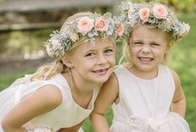 Flowergirls / Traditionally a flower girl scatters a pathway of petals in front of the Bride as she walks down the aisle to symbolise a happy path in married life. Here are a selection of super cute ideas for your flower-girls and little bridesmaids...