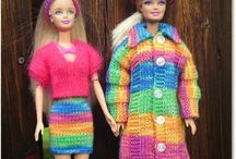 Crochet and knit  Barbie clothes / virka & sticka Barbiekläder crochet & knit Barbie clothes