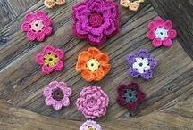 Crochet flowers / Virkade blommor
