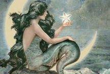Salt Sea in Her Hair / Mermaid, Merman, Merfolk