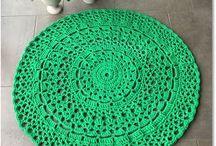Crochet rugs, carpets / Virkade mattor