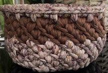 Crochet baskets / Virkade korgar