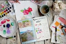 Art Journal & Mixed Media / Art Journal, Mixed Media & altered Art Drawings & Scrap