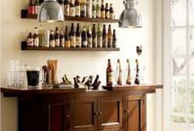 Home Bar / Don't go out to a bar! Make your own at home with these fun accessories and decorating ideas!