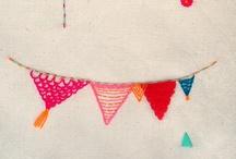 stitches / Embroidery, felt crafts, etc.
