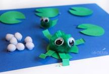Pond Theme / Hands-on learning Activities and crafts to teach toddlers and preschoolers about frogs, turtles and other pond life.