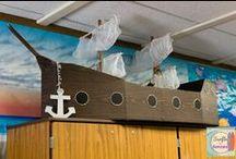 Pirates / Pirate theme | Pirates in the classroom | DIY crafts | DIY pirate ship