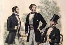 Vestuario de caballero mediados XIX
