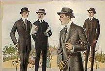Vestuario de caballero comienzos XX
