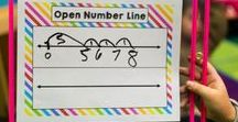Math: Open Number Line / Open Number Lines can be used in 1st grade for basic addition and in 5th grade for adding fractions.  So many uses!