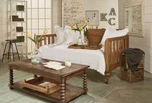 "Magnolia Home: Primitive / From the mind of Joanna Gaines... Primitive pieces have managed to stand the test of time. They hold a weight and hardiness that other styles can't match. The Primitive line's effortless details; such as turned legs, simple carvings and relaxed finishes, forms an ideal blend of ""back-to-basics"" elements. / by American Signature Furniture"